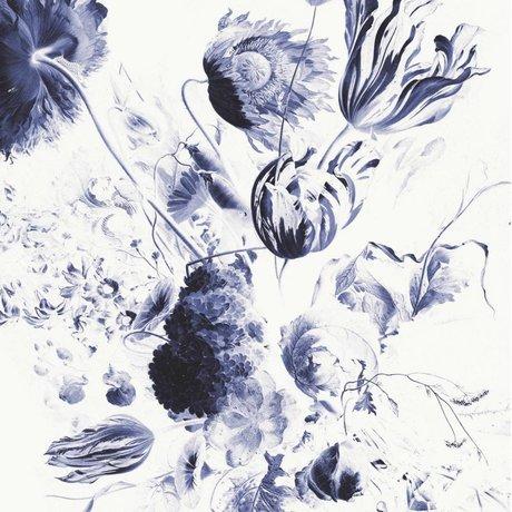 KEK Amsterdam Tapete Royal Blue Flowers II Mehrfarbenpapierbahn 194,8x280cm
