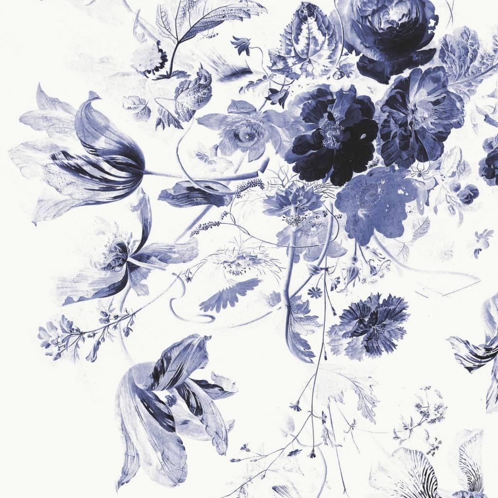 Kek Amsterdam Wallpaper Royal Blue Flowers Iii Multicolor Paper Web