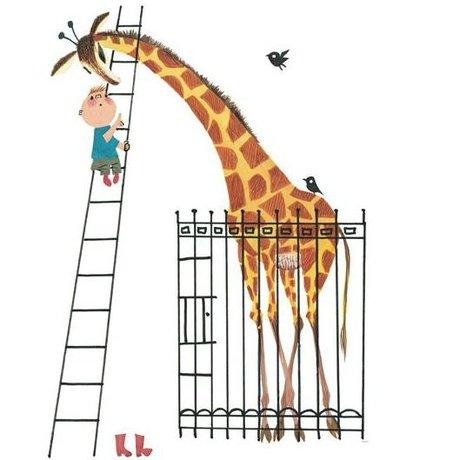KEK Amsterdam Riesige Giraffe Wallpaper bunten Papiervlies 243,5x280cm