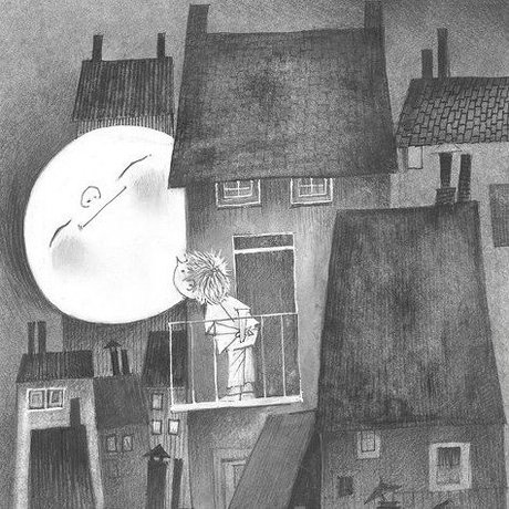 KEK Amsterdam Moonlight Tapete grau schwarz-weiß Filme, Papiere 194,8x280cm