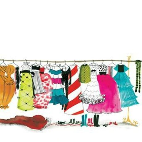 KEK Amsterdam Behang Dress up Party multicolour vliespapier 389,6x280cm