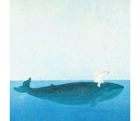 KEK Amsterdam Riding the Whale wallpaper multicolored fleece paper 389,6x280cm