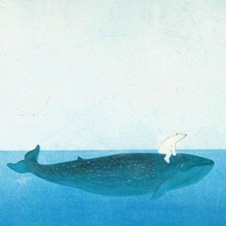 KEK Amsterdam Behang Riding the Whale multicolour vliespapier 389,6x280cm