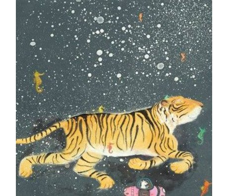 KEK Amsterdam Wallpapers Smiling Tiger multicolored fleece paper 389,6x280cm