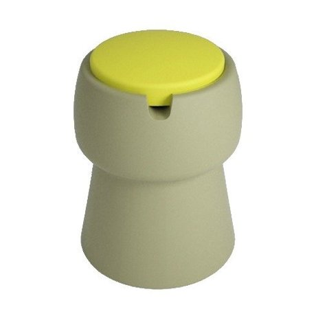 JokJor Stool Champ green yellow plastic Ø35x45cm