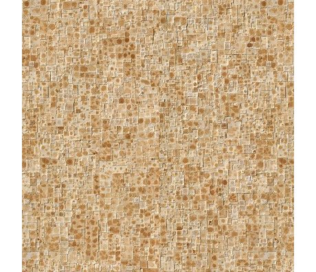 """NLXL-Arthur Slenk «Remixed 2"""" papier crème / marron 900x48.7cm Wallpaper"""