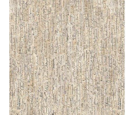 NLXL-Arthur Slenk Wallpaper 'Remixed 3' Papier 900x48.7cm creme / schwarz