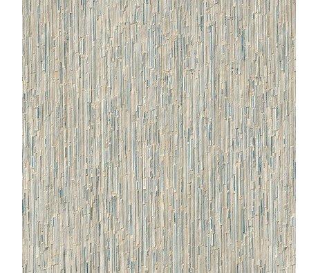 "NLXL-Arthur Slenk Remixed 7 ""crème papier 900x48.7cm Wallpaper"" / bleu"