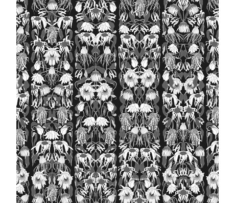"NLXL-Studio Job Wallpaper ""Withered flowers black 06"" black / white paper 900x48.7cm"
