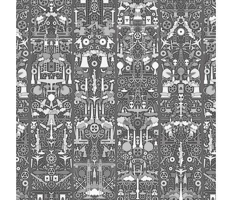 "NLXL-Studio Job Wallpaper ""Industrie 01"" Papier 900x48.7cm grau / weiß"