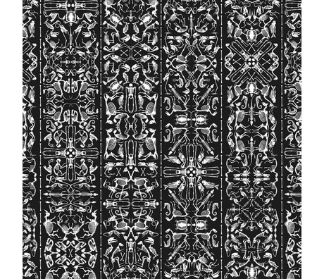 "NLXL-Studio Job Wallpaper ""Perished 03"" Papier 900x48.7cm schwarz / weiß"