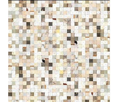NLXL-Piet Hein Eek Behang 'Sloophout 16' papier wit/bruin 900 x 48,7 cm