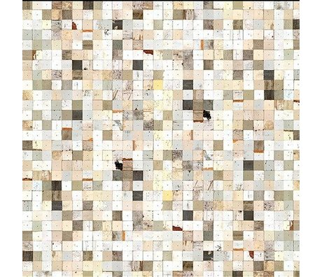 "NLXL-Piet Hein Eek Wallpaper 'Scrapwood 16 ""paper white / brown 900 x 48.7 cm"