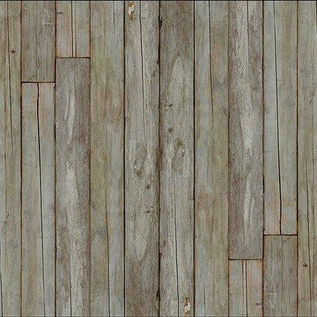 "NLXL-Piet Hein Eek Wallpaper 'Scrapwood 14 ""paper-white gray / brown 900 x 48.7 cm"