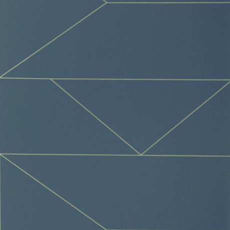Ferm Living Linien wallpaper dark blue 10x0,53m