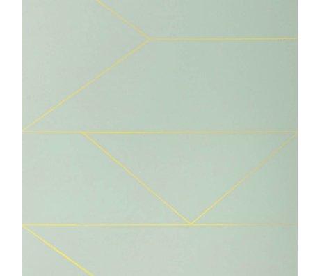 Ferm Living Behang Lines mint groen 10x0,53m
