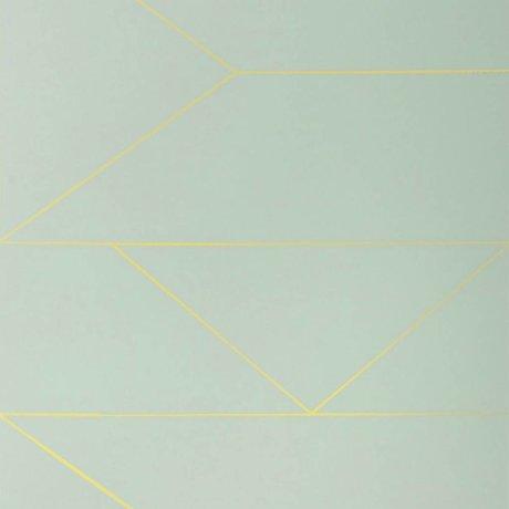 Ferm Living Wallpaper Linien mint 10x0,53m