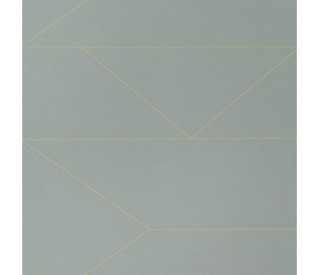 Ferm Living Wallpaper Lines grijs10x0,53m