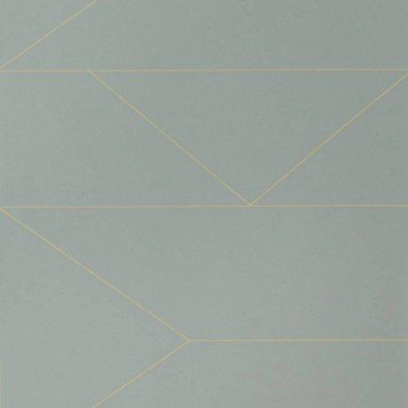 Ferm Living Wallpaper Linien grijs10x0,53m