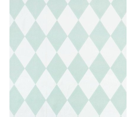Ferm Living Harlequin wallpaper mint green checkered 10,05x0,53m