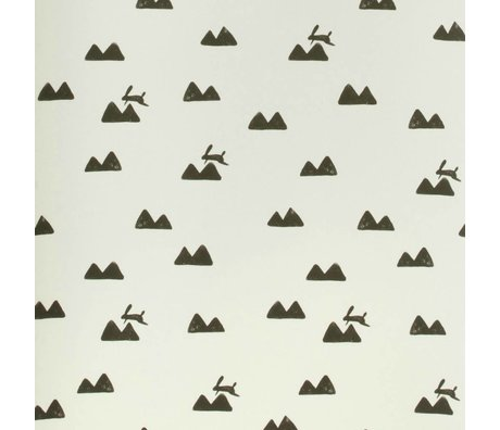 Ferm Living Wallpaper Rabbit broken white 10x0,53m