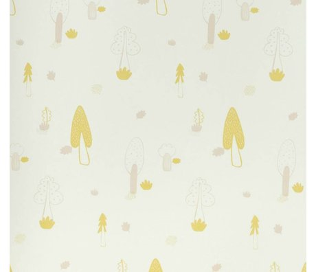 Ferm Living Forest wallpaper pink yellow 10x0,53m