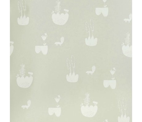 Ferm Living Landscape Wallpaper gray 10x0,53m
