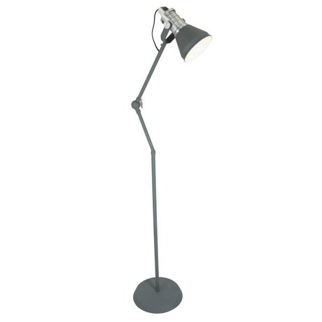 Anne Lighting Floor lamp Brusk anthracite gray metal ø30x120-180cm