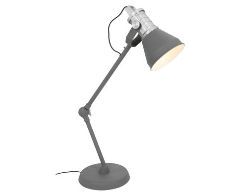 Anne Lighting Table Lamp Brusk anthracite gray metal ø16x30-85cm