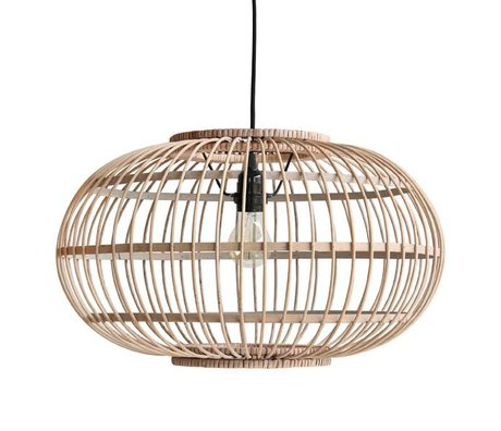 HK-living Suspension en bambou marron 47,5x47,5x28,5cm