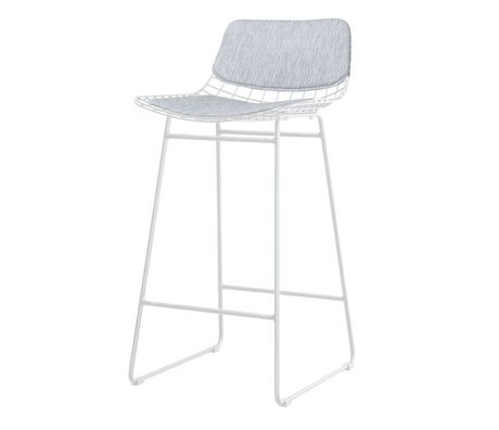 HK-living comfort kit gray metal wire bar stool