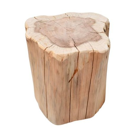 HK-living Occasional table trunk brown metasequoia wood approximately 40x30x40cm