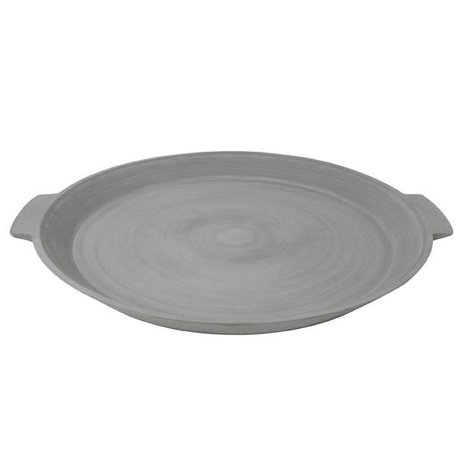 HK-living Tray L gray stone powder polyester resin 60x50x5cm