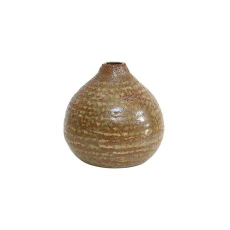 HK-living Brown Keramik-Vase 9,5x9,5x9,5cm