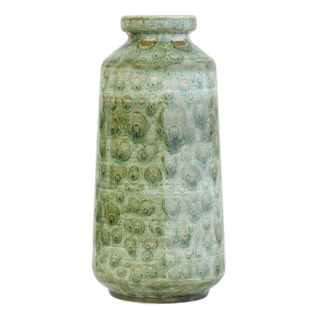 HK-living Retro green ceramic vase 12,5x12,5x25,5cm