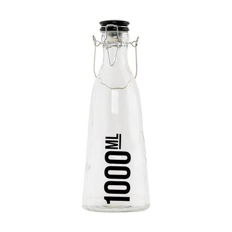 Housedoctor Transparent glass bottle ø10x29cm