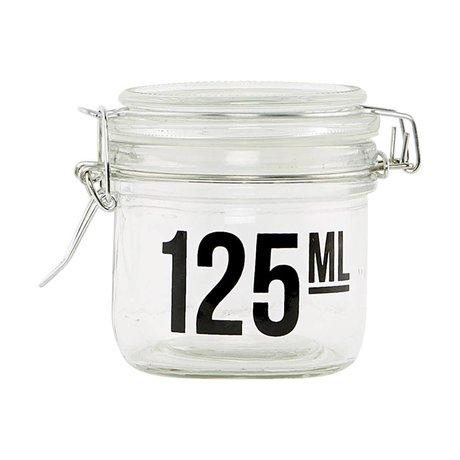 Housedoctor Transparent glass jar ø7x7cm