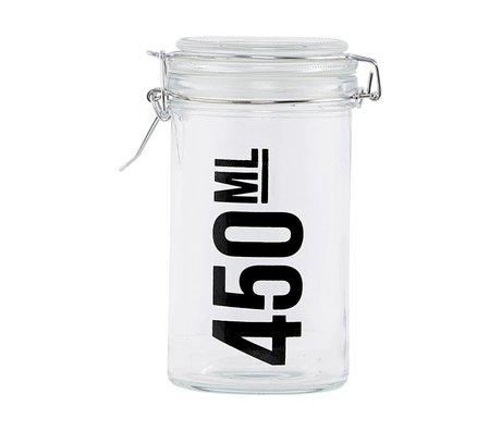 Housedoctor Voorraadpot transparant glas ø7,8x14cm