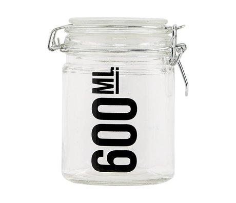 Housedoctor Voorraadpot transparant glas ø10x13cm
