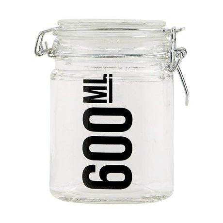 Housedoctor Transparent glass jar ø10x13cm