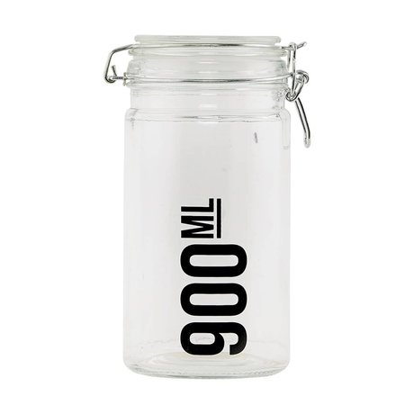 Housedoctor Transparent glass jar ø10x19cm