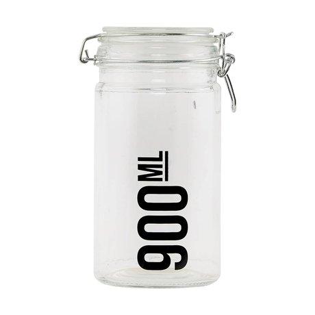 Housedoctor Voorraadpot transparant glas ø10x19cm
