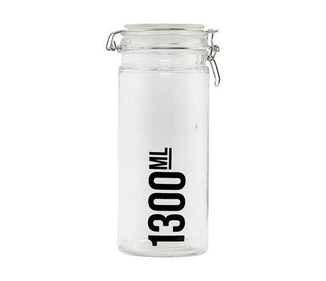 Housedoctor Voorraadpot transparant glas ø10x25cm