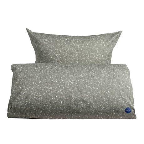 OYOY Couette adulte étoilé extra-long coton 140x220cm gris et blanc