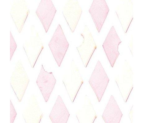 KEK Amsterdam Behang roze/wit Spekjes 146,1 x 280cm 4m²