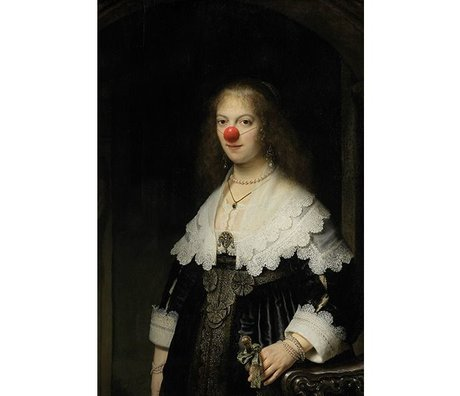 Arty Shock Rembrandt Painting Clown About Mary M multicolor plexiglass 80x120cm
