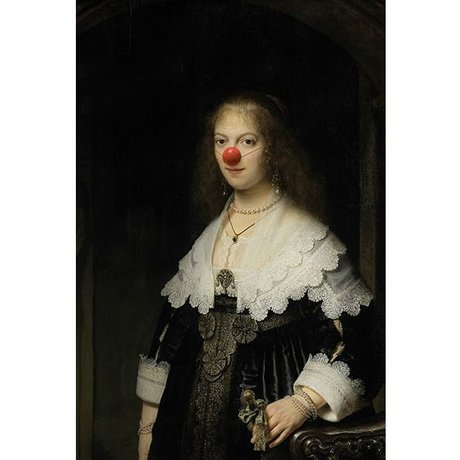 Arty Shock Rembrandt Peinture Clown About Mary M multicolor plexiglass 80x120cm