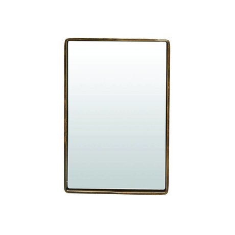 Housedoctor Mirror reflektion antique brass gold colored metal 30x20x4cm