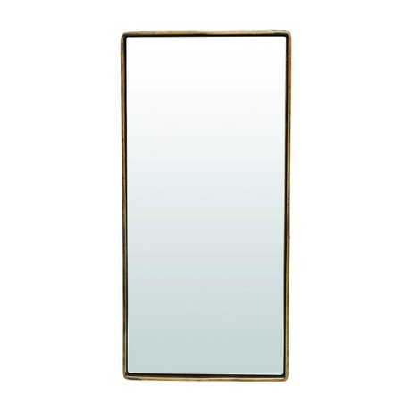 Housedoctor Mirror reflektion antique brass gold colored metal 55x25x4cm