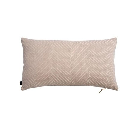 OYOY Cushion Herringbone Fluffy pink cotton 40x70cm